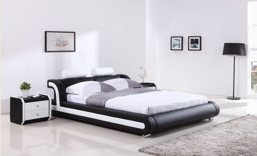 QUEEN  WILLOW  LEATHERETTE BED ONLY   (G993#) - ASSORTED COLORS