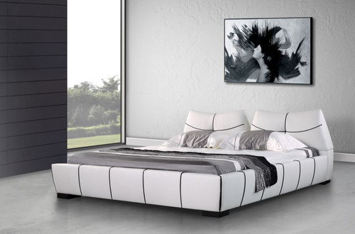 KING TOMMY  LEATHERETTE BED ONLY  (G1034#) - ASSORTED COLORS
