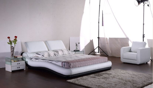 KING  MAYIRAH LEATHERETTE BED (G1059#) - ASSORTED COLORS