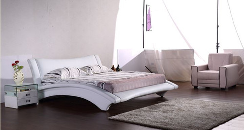 QUEEN  TEMPLE  LEATHERETTE BED (G1064#) - ASSORTED COLORS