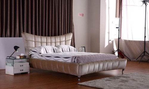 QUEEN  ERASMUS LEATHERETTE BED (G1069#) - ASSORTED COLORS