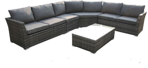BELKA  5 PIECE  OUTDOOR SOFA SET (VBD-018) - MIX GREY