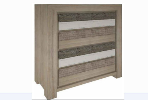HIGHLAND  4 DRAWERS TALLBOY  (3-8-1-20-5-1-21) - BRUSHED & MULTI COLOR