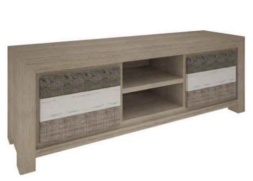 HIGHLAND TV UNIT  WITH 2 DOORS & 2 NICHES  (3-8-1-20-5-1-21) - 1730(W) - BRUSHED & MULTI COLOR FINISH