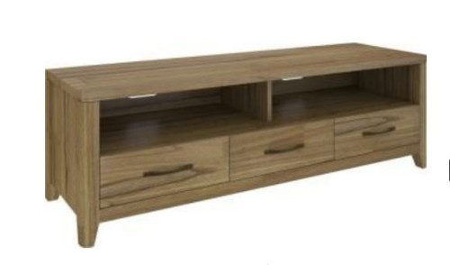 COSMO HARDWOOD ENTERTAINMENT UNIT WITH 3 DRAWERS  (VCO-008) - 1650(W) - NATURAL OAK