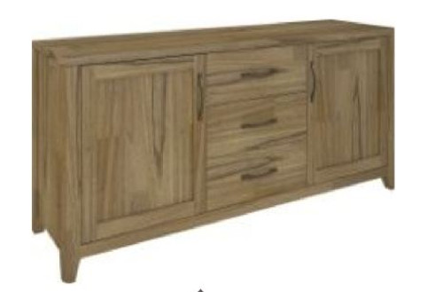 COSMO BUFFET WITH  2 DOORS AND 3 DRAWERS (VCO-003) -820(H) x 1750(W) - NATURAL OAK