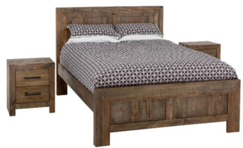 KING ZAINAB SOLID TIMBER BED (1-12-5-24-1-14-4-18-9-1) - SMOKEY PINE