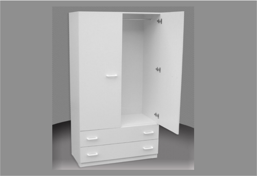 3FT CHILDS WARDROBE (CW36-D) 2 DOOR / 2 DRAWER WITH METAL RUNNERS -1800(H) X 900(W)   - ASSORTED COLOURS AVAILABLE