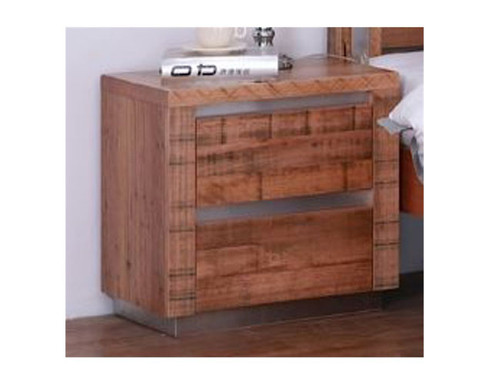 ZANANDA  2 DRAWER TASMANIAN OAK  BEDSIDE TABLE (18-9-22-9-5-18-1) - NATURAL RUSTIC