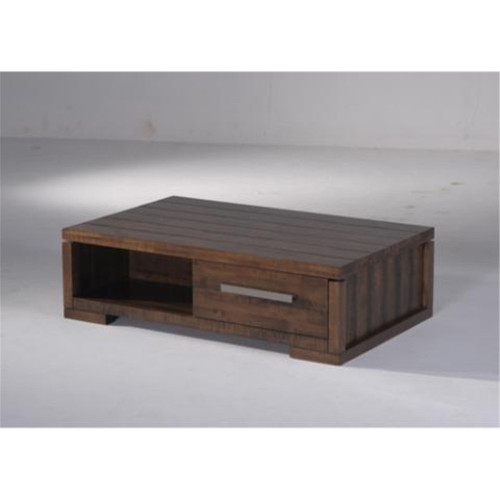 PENLEIGH  COFFEE TABLE WITH 2 DRAWERS  -  350(H) X 1200(W) X 750(D) -  EXCLUSIVE OAK