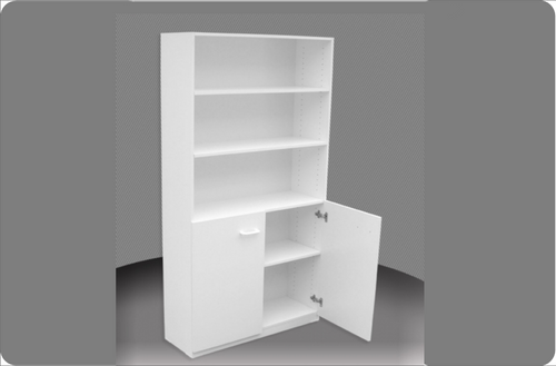 6FT HALF DOOR BOOKCASE (6x4D) - 1800(H) x 1200(W) - ASSORTED COLOURS