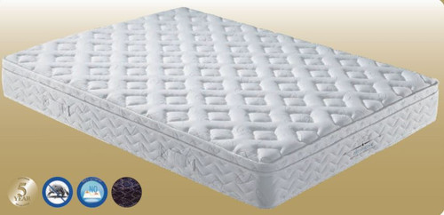 DOUBLE ORTHOZONE CONTINUOUS SPRING ENSEMBLE (MATTRESS & BASE)  (VMT-003) WITH BODY CARE (SWB) BASE - GENTLY FIRM