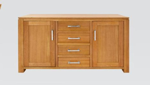 GRACE 2 DOORS 4 DRAWER TASMANIAN OAK BUFFET - (19-15-6-9-1) - 1450(W) - BLACKWOOD OR WALNUT