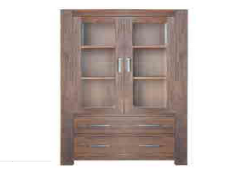 EMILY  2 DOORS / 2 DRAWERS DISPLAY CABINET - 1850(H) X 1040(W)
