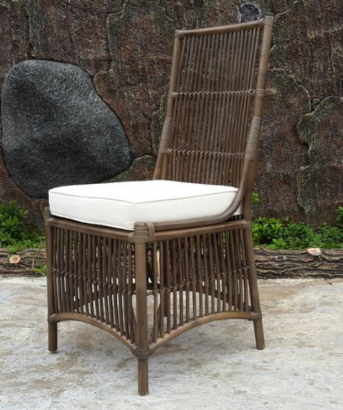 COLOMBUS CANE HIGH BACK DINING CHAIR (DET817) - GREY