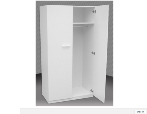 2FT CHILDS ALL HANGING 1 DOOR ROBE (BCA24) (NOT AS PICTURED) -  1800(H) X 600(W) -  ASSORTED COLOURS AVAILABLE
