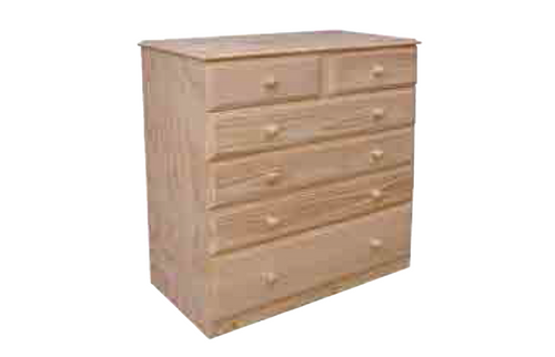 """36""""  6  DRAWERS TOP SPLIT  CHEST  1150(H) - 12"""" BOTTOM - STAINED"""