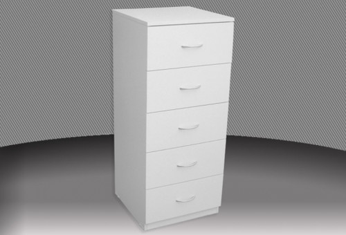 18 INCH 4 DRAWER HIGH CHEST (CD418) WITH METAL RUNNERS (NOT AS PICTURED) - ASSORTED COLOURS
