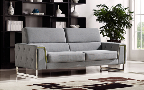 BULOND THREE  (3)  SEATER   FABRIC   LOUNGE SUITE - (MODEL-2-18-21-20-20-5-12-20)- LIGHT GREY