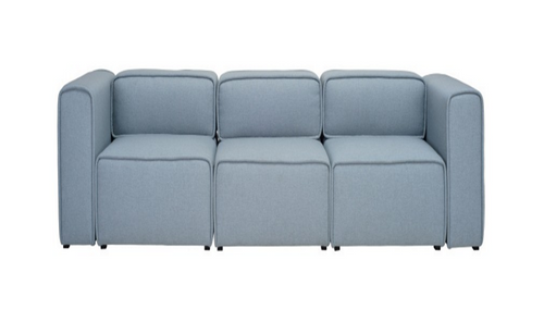 ACURA THREE (3)  SEATER   FABRIC  LOUNGE- AQUAMARINE