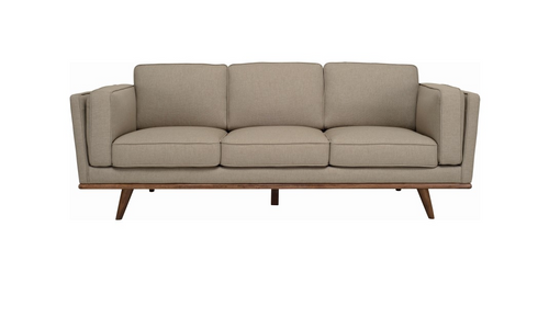 CIVIC THREE (3)  SEATER  SCANDINAVIAN  FABRIC  LOUNGE-SANDSTONE