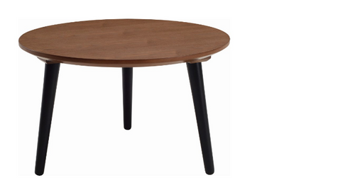 CARSYN ROUND COFFEE TABLE-   375(H) X 600(W) X 600(D)  - COCOA