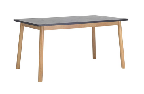 DEKEL SCANDINAVIAN  DINING TABLE - 1500(L) X 900(W) -  GRAPHITE GREY