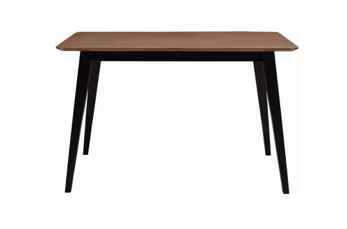 PLATON SCANDINAVIAN  DINING TABLE - 1200(W) X 750(D) -  BLACK / COCOA