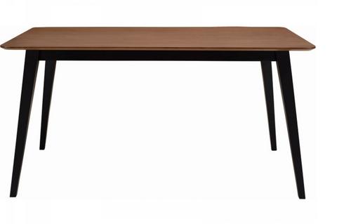 PLATON SCANDINAVIAN  DINING TABLE - 1500(W) X 900(D) -  BLACK / COCOA