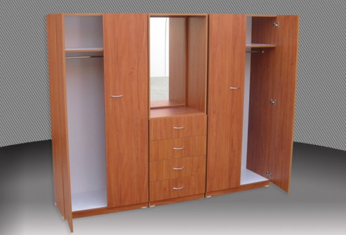 3 PIECE COMBO WARDROBE (3PCE500D) WITH METAL RUNNERS - 1800(H) X 1400(W) -   - ASSORTED COLOURS AVAILABLE