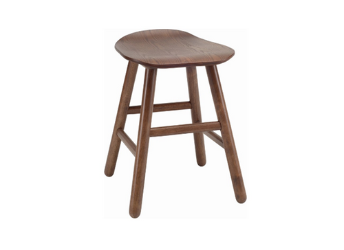 HETTY SCANDINAVIAN BAR STOOL - 490H -  COCOA