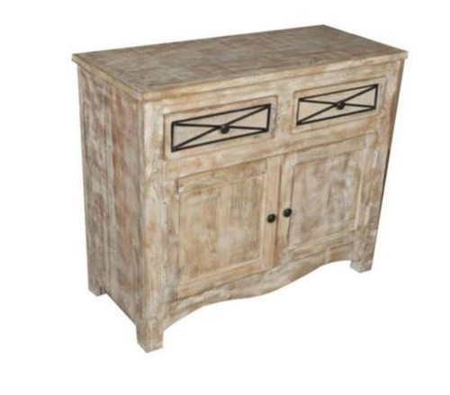 DENNY SIDEBOARD WITH 2 DOORS & 2 DRAWERS   (3-15-1-19-20-1-12) - NATURAL