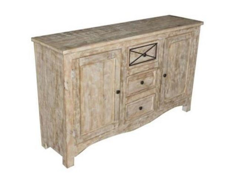 DENNY SIDEBOARD WITH 2 DOORS & 3 DRAWERS   (3-15-1-19-20-1-12) - NATURAL