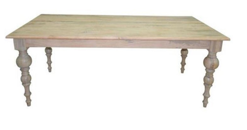 CONSTANCE 2000(W) x 1000(D) RECTANGULAR DINING TABLE - DISTRESSED WHITEWASH