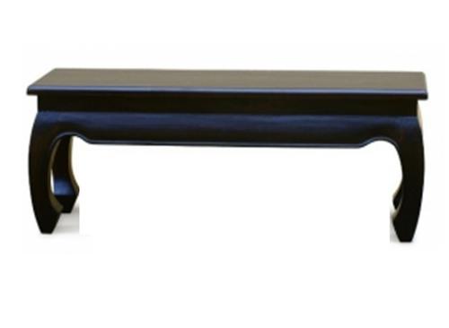 CHINESE OPIUM LEG DINING  BENCH (BE 128 35 OL) 1280(W) x 350(D) -  CHOCOLATE