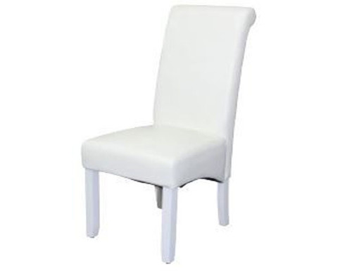 AVALON DINING CHAIR - WHITE WITH WHITE LEGS