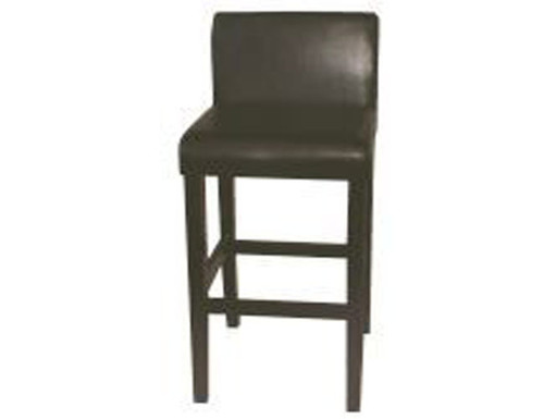 CLAYFORD (1005) BAR STOOL BY - CAST LEATHER - CHOCOLATE
