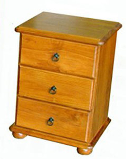 SAHARA CSH113 3 DRAWER BEDSIDE - 590(D) - ASSORTED COLOURS AVAILABLE