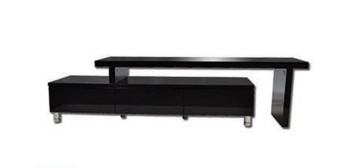 XENA EXTENDABLE ENTERTAINMENT UNIT WITH    DRAWERS  - 1640-2860(W) - HIGH GLOSS BLACK