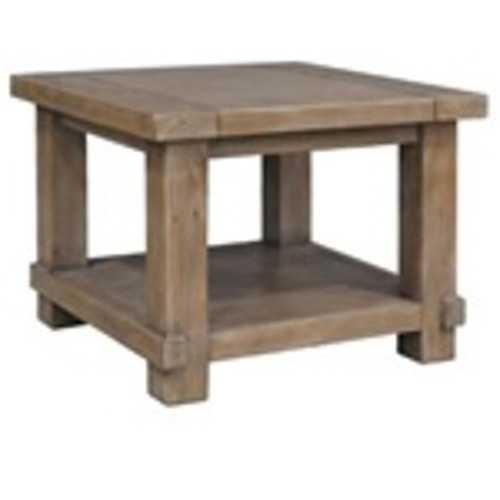 CANYONLEIGH LAMP TABLE 600(W) RECYCLED PINE - WEATHERED GREY
