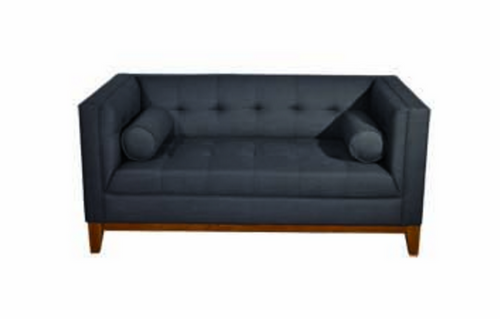 CALVIN TWO (2) SEATER SOFA WITH ARM CUSHIONS - DARK GREY