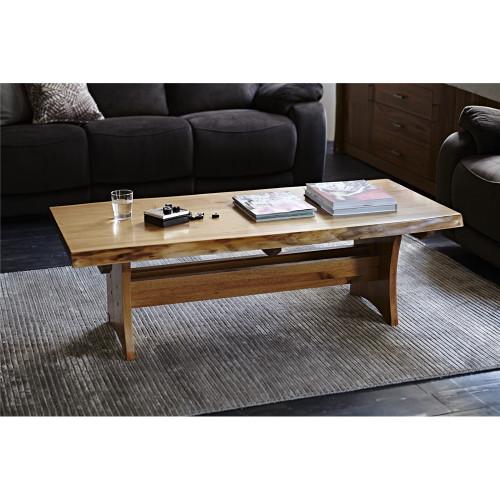ARGYLE  HARDWOOD  COFFEE TABLE-  450(H) X 1400(W) X 700(W) - NATURAL FINISH