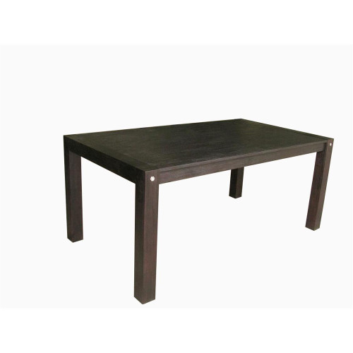 BOMBAY DINING TABLE 1800(W) x 1000(D)- WIRE BRUSHED SMOKE - D