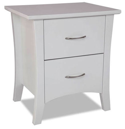 SAVANNAH BT-SHO(2) (MODEL 19-15-8-15) 2 DRAWER BEDSIDE - WHITE