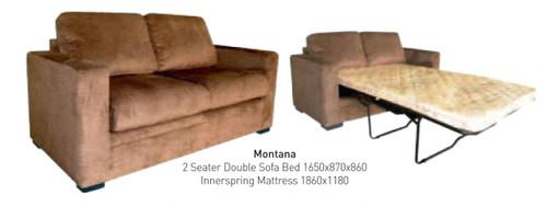 MONTANA TWO SEATER SOFA BED - SHONA GRANITE, SHONA PECAN OR TOBACCO