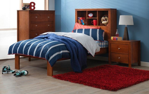 KING SINGLE THOMAS BOOKEND  BED (MODEL 20-25-12-5-18) - ASSORTED PAINTED AND WASHED COLOURS (NOT AS PICTURED)