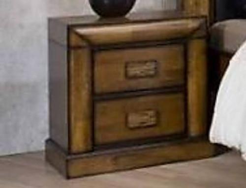 BROOKLYN 2 DRAWER BEDSIDE TABLE - ANTIQUE MERONI FINISH