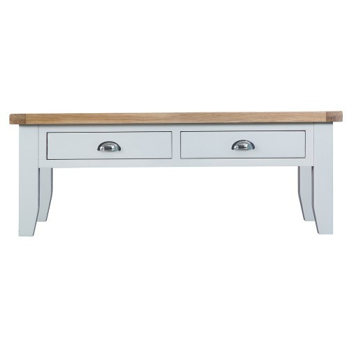 ARBETTA (TT-LCT) LARGE  COFFEE TABLE WITH 2 DRAWERS  - 450(H) X 1200(W) X 600(D) -  TWO TONE