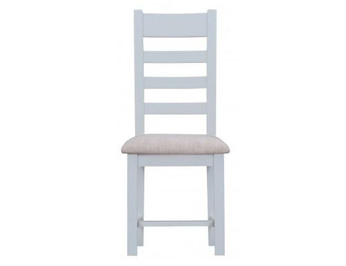 ARBETTA (TT-CHF) LADDER BACK FABRIC SEAT DINING CHAIR  - TWO TONE