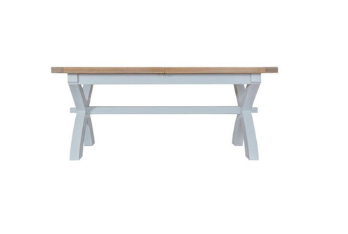 ARBETTA  (TT-18ET+SBEN) CROSS EXTENDING TABLE 1800 - 2300(W) X900(D) WITH 2X 1800(W) BENCHES - TWO TONE